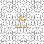 Vải họa tiết Hexagonal pattern