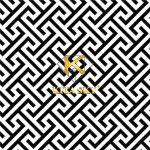 Vải họa tiết Interlocking pattern