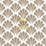 Vải họa tiết cây cọ Palmette pattern