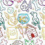 Vải họa tiết thú cưng pet pattern