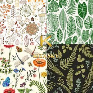 Vải họa tiết thực vật Botanical pattern
