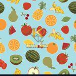 Vải họa tiết trái cây fruit pattern
