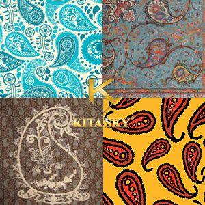 Vải hoa văn boteh pattern