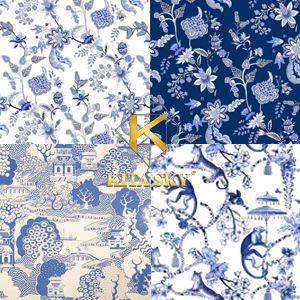 Vải hoa văn họa tiết Trung Quốc Chinoserie pattern