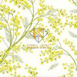 Vải hoa văn nhánh chồi non Spring pattern