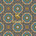 Vải hoa văn phương đông Oriental Pattern