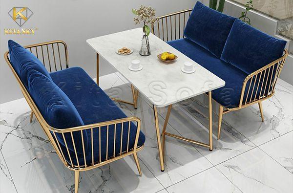 Đóng ghế sofa tiệm nail, spa, thẩm mỹ cũng rất được chú trọng vì đây được coi là khu vực tiếp khách, ngồi chờ của khách hàng.