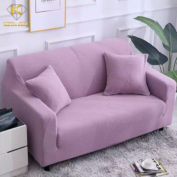 Áo trùm sofa màu tím vintage
