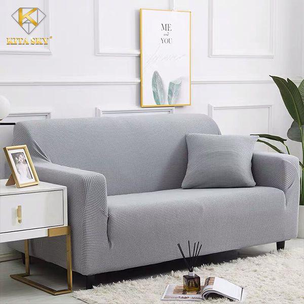 Bọc chống thấm sofa màu xám