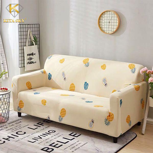 Drap phủ ghế sofa trái thơm màu vàng xinh xinh