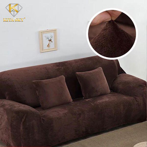 Drap sofa màu nâu