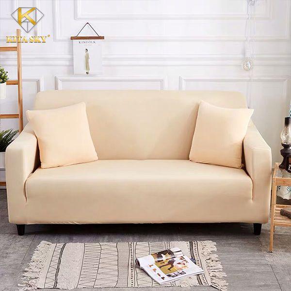 Ga bọc sofa màu kem thời thượng, sang trọng
