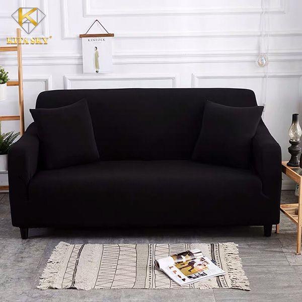 Tấm bọc ghế sofa đẹp màu đen sạch, dễ vệ sinh.