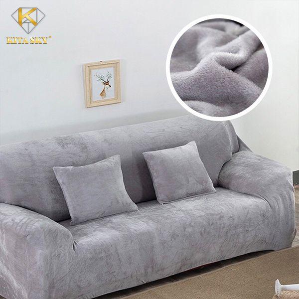Tấm bọc sofa băng, sofa bed, sofa góc,... màu xám trơn