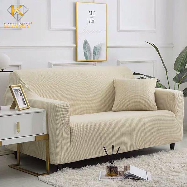 Tấm bọc sofa màu kem sang trọng