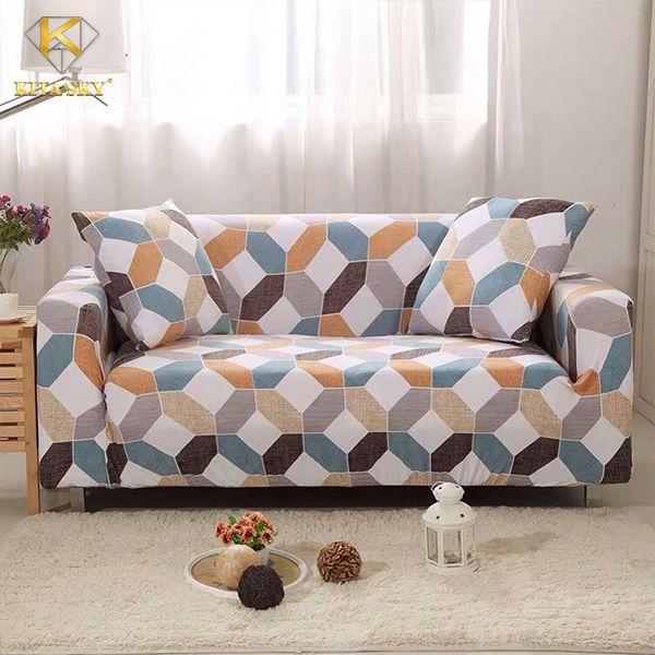 Tấm vải bọc sofa họa tiết gạch bông hot trend