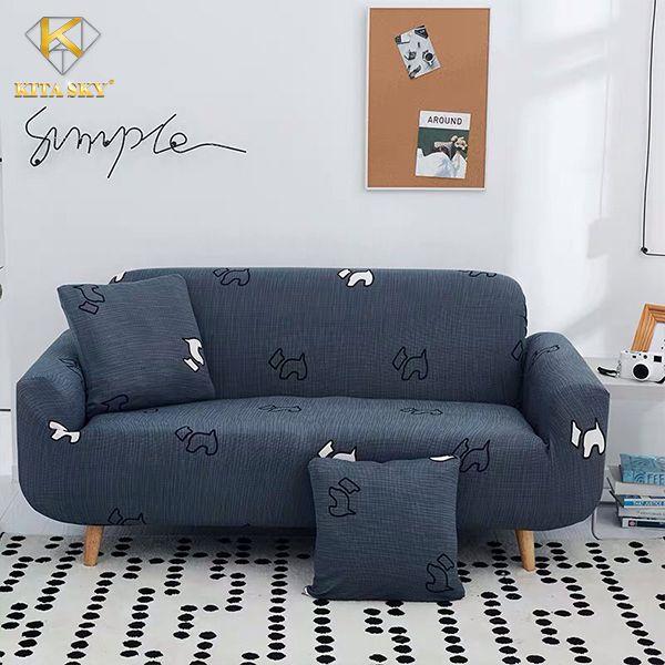 Vải bọc ghế sofa đẹp màu xám trung tính luôn là lựa chọn phần lớn của khách hàng hiện nay