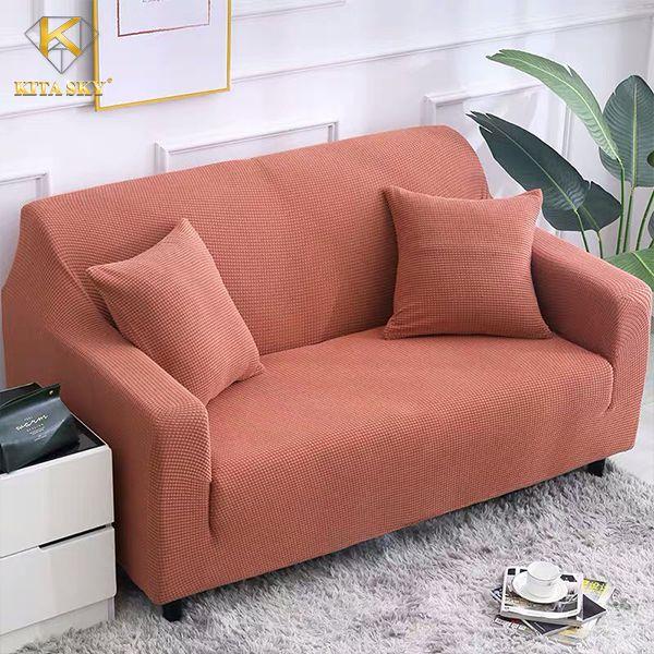 Vải bọc ghế sofa màu cam đỏ cao cấp
