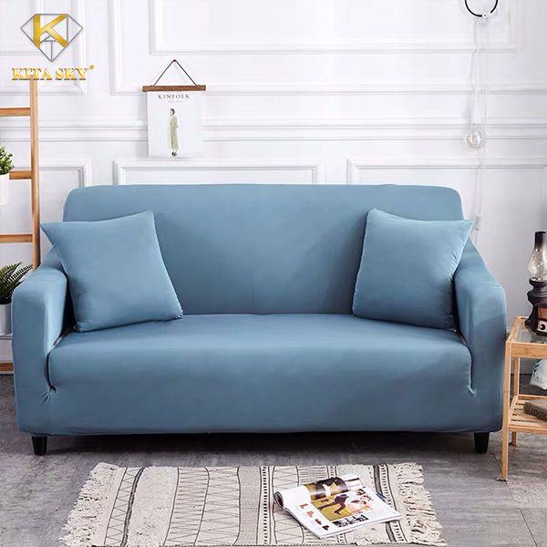 Vải bọc sofa bed màu xanh nước vintage xinh xinh