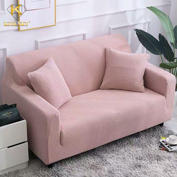 Vải bọc sofa chồng thấm màu hồng phủ bụi, bảo vệ sofa nhà bạn cực tốt