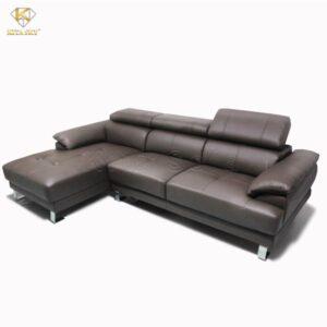 Sofa góc da đầu bật - Sự thư giản hoàn hảo nằm trong một form ghế