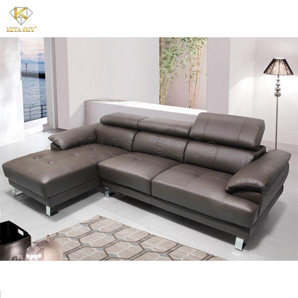 Sofa góc da đầu bật Cuero đơn giản nhưng cực kỳ sang trọng