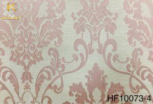 Vải trang trí hoạ tiết cổ điển màu hồng