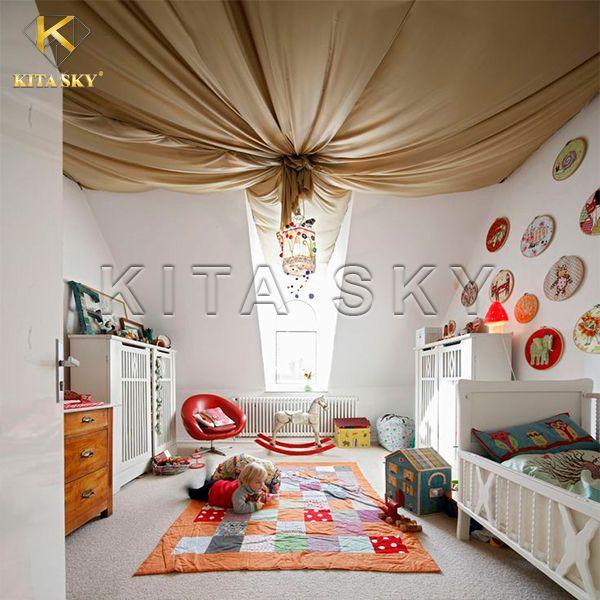 Vải trang trí trần nhà