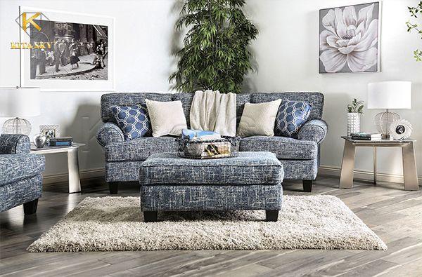 Sofa bọc bằng chất liệu vải mang lại sự thoải mái