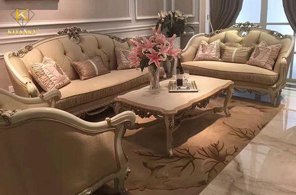 Sofa tân cổ điển bọc vải