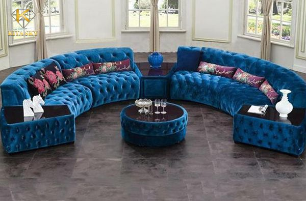 Sofa vải bán nguyệt