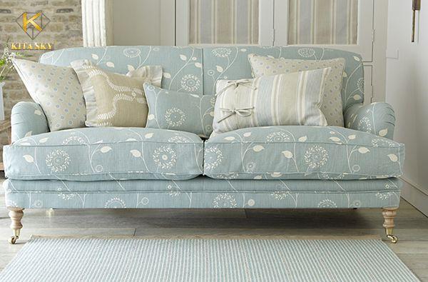 Sofa vải hoạ tiết tao nhã luôn có vị thế nhất định trong lòng những ai yêu thích nội thất