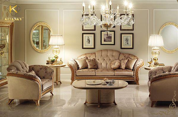Sofa vải tân cổ điển