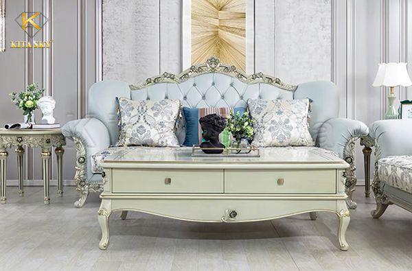 Sofa màu xanh ngọc